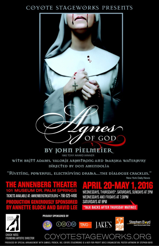 Humbled to be starring as Agnes of God!